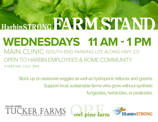 Farm Stand Today at Main Clinic