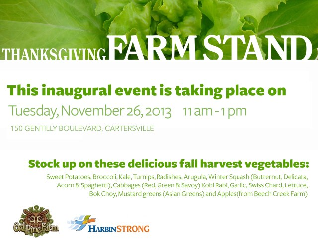 C'ville Thanksgiving Farm Stand