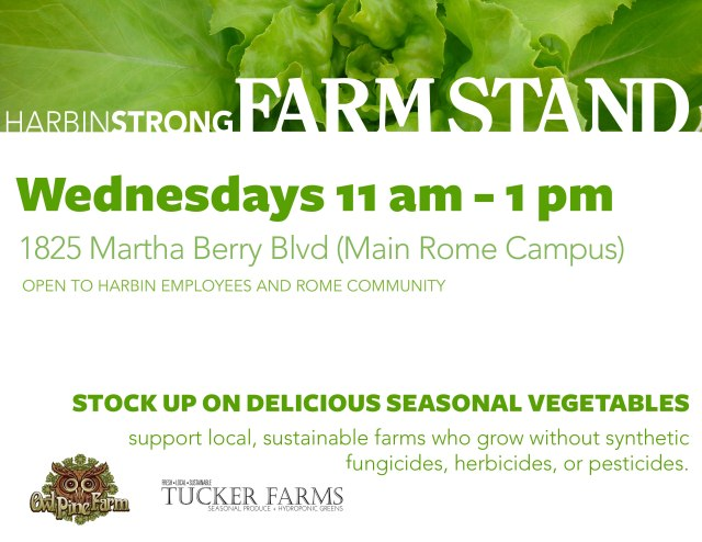 Farm Stand Opens Today at the Main CLinic