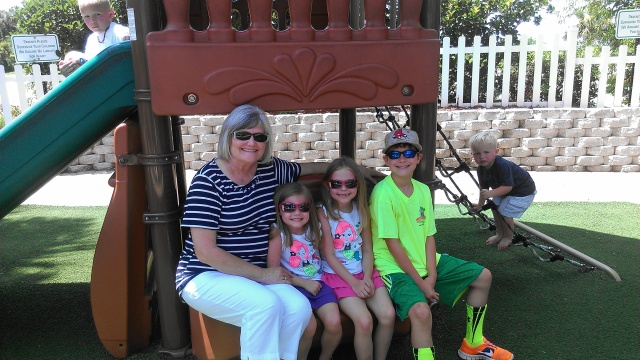 Janice Duncan and grandkids in FL