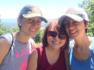 Haley Dobbs,  Kim Agan and Becca Agan at house of dreams