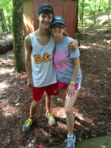 Kari Pace Coumadin Clinic hike with son at Rock Eagle