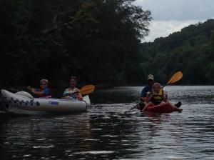 Renee Reece General Surgery kayaking on Etowah