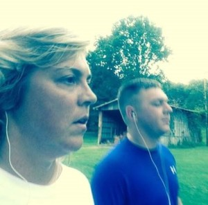 Tammy Perry afternoon jog with son