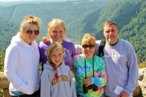 Diehl family with Tom hiking in West Virginia