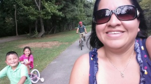 Elizabeth Martinez Urology biking at Ridge Ferry