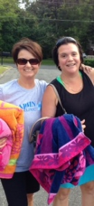 Liz and Angie ready to take the plunge