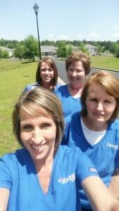 SP Kathy Couey, Lynn Garrett, Allison White, Andrea Horne