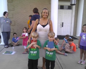 Dana Reece volunteering at VBS