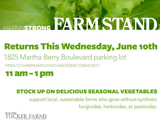 Farm Stand Open Date