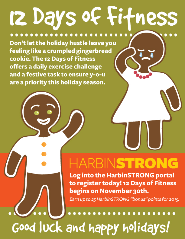 12 Days of Fitness flyer