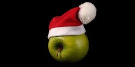 apple-with-santa-hat