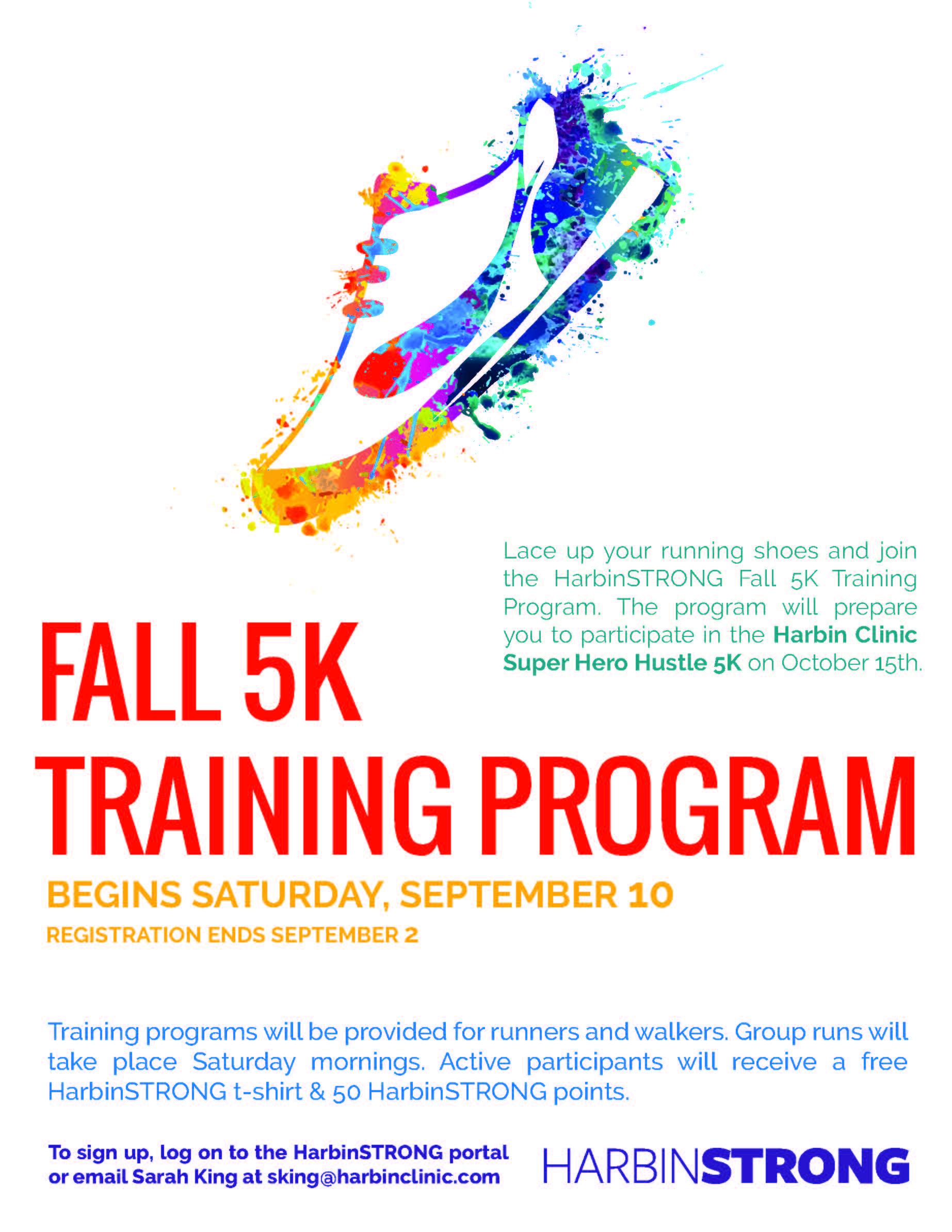 Fall 5K training flyer