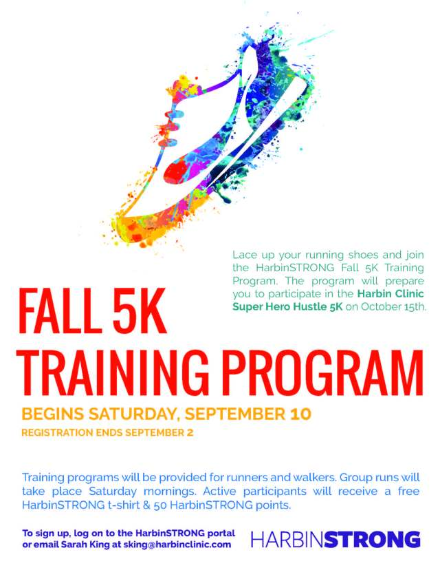 Fall 5K training flyer