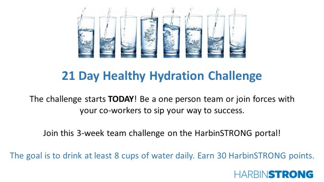 Hydration Challenge starts today!
