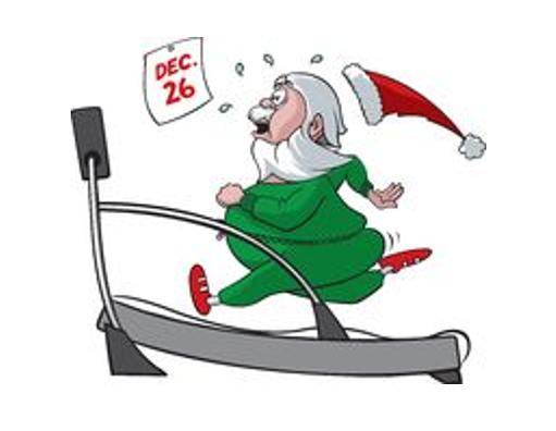 santa on treadmill for portal