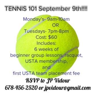 Tennis 101 in Cartersville